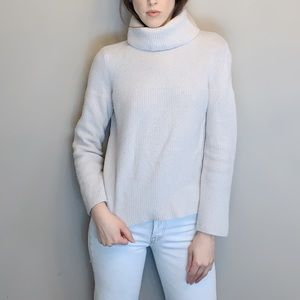 Knit wool and cashmere blend turtle neck sweater